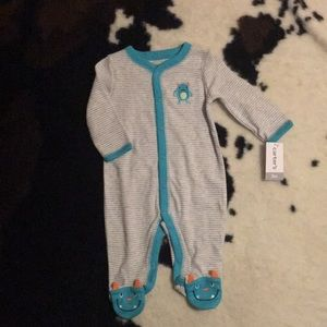 Carter's s monster theme sleeper. Size 3m